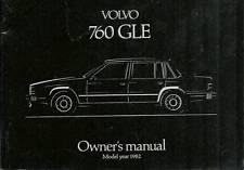 OWNER'S MANUAL USO MANUTENZIONE   VOLVO 760  1982