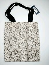 M&S SNAKESKIN SHOPPER TOTE BAG NEW FAUX ANIMAL PRINT MARKS AND SPENCER
