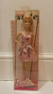 Barbie Fashionistas Style Doll - Pink Heart Dress - New In Box