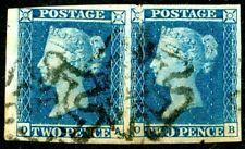 1841 2d blue - OA-OB plate 3 - SG £550