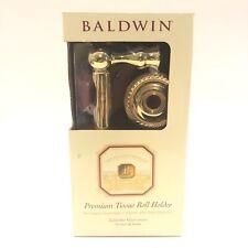 "BALDWIN ""MYSTIC"" solid brass NEW premium tissue roll holder NEW! Heavy"