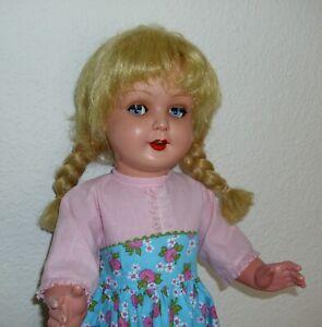 Schöne Puppe König & Wernicke -  K&W  ca.63 cm groß mit Schelmenaugen