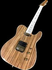 NEW STRIPED EBONY 6 STRING EXOTIC TONEWOOD HUMBUCKER TELE STYLE ELECTRIC GUITAR