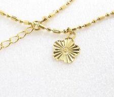 Women Girl 14K Yellow Gold Plated Xmas Dancer 22+4 cm Adjustable Bracelet Anklet