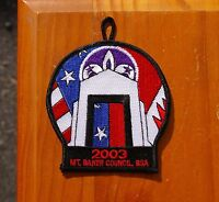 2003 Mt. Baker Council BSA Embroidered Patch Boy Scouts of America Mount