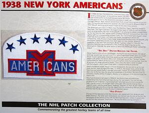1938 NEW YORK AMERICANS Willabee Ward NHL THROWBACK HOCKEY TEAM LOGO PATCH Card