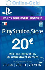 Sony Playstation Network Carte 20 EUR (PS4/PS3/PSP/PS Vita)