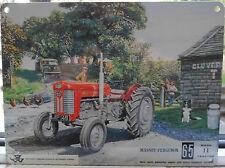 MASSEY FERGUSON MF 65 MF65 TRACTOR OLD VINTAGE FARMYARD SCENE METAL WALL SIGN