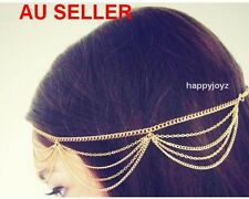 Gold Head chain band Hair Jewellery Bohemia Gypsy style Dance Vintage Headpiece