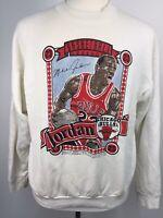 VTG 90s Michael Jordan Chicago Bulls Championship Career Sweatshirt USA XL