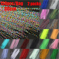 300Pcs 19 Colors Useful Flashabou Crystal Tinsel Flash Fly Tying Materials New