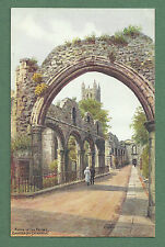 C1930'S A. R. QUINTON PC RUINS OF THE PRIORY CANTERBURY CATHEDRAL