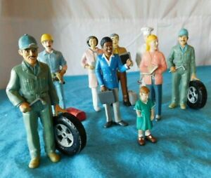 "9 Vintage 5"" Lakeshore Educational Occupation Figures Community Worker Man Woman"