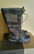 NIB! Sorel Conquest Carly Waterproof Insulated Lace Up Boots Camo Brown, Sz 5