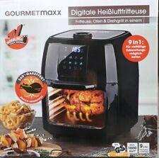 XXXL Heißluft Fritteuse Airfryer Digital Backofen fettfrei Drehgrill 9L Pommes
