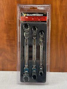 GearWrench 3 Piece Flex Head Flare Nut SAE Wrench Set
