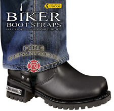 """Harley-Davidson Boot 6"""" Fire Department Motorcycle Boot Straps"""