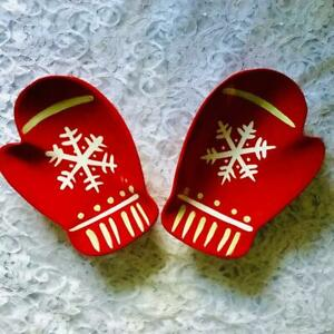 Hallmark Christmas Holiday Candy Treat Dishes Red Mittens