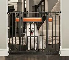 Carlson Home Design Extra Wide Walk Thru Pet Gate with Small Pet Door Include.