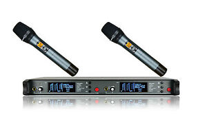 Professional Wireless Microphone System UHF Selectable Dual Frequency Wireless
