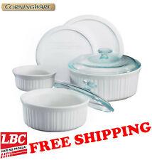 corningware french white 7pc set casserole round X pyrex corelle kitchenaid