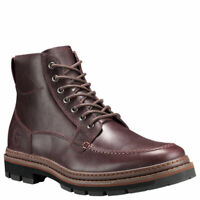 Timberland Men's Port Union Moc Toe Waterproof Casual Boots - Burgundy Leather