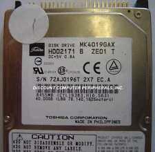 Toshiba MK4019GAX HDD2171 10 In stock Tested + Warranty 40GB 2.5 inch IDE Drive