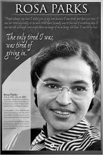 ROSA PARKS, AMERICAN HERO Civil Rights History Educational Wall Chart POSTER