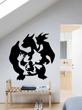 POKEMON EVOLUTION CHARIZARD LARGE VINYL DECAL Girls Boys Bedroom Wall sticker