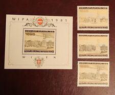 Österreich WIPA 1981 Mi 1629,1662, 1665, Block 5 postfrisch