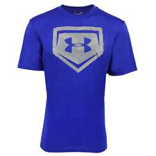 Under Armour Men's Heatgear Graphic Home Plate T-Shirt Blue/Silver M
