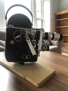 Paillard Bolex H16 Film Camera, 1951, #66477, All 3 Lenses, Good Condition