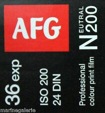 4 Pellicules photo AFG 200 iso 24x 36 poses couleur film non périmé neuf 2018 !