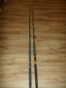 2 Heavy Duty Star Rods Fishing Rods Aerial & Delux