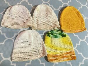 Vintage Crocheted Baby/ Doll Hats, 1950/60's