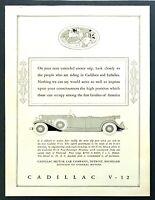 1931 Cadillac V-12 Five-Passenger Phaeton art Polo Theme vintage print ad
