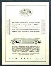 1931 CADILLAC V-8 Convertible Coupe Vintage Antique Original Print AD L Benigni