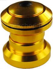 "Aluminum alloy BMX or MTB bicycle headset 1 1/8"" threadless - GOLD ANODIZED"