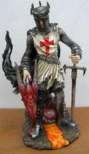 Nemesis Now  KNIGHT & DRAGON SUBMISSION FIGURE SCULPTURE CRUSADER Heraldry