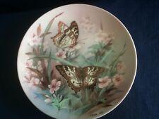 """W S George Lena Liu On Gossamer Wings """"White Peacocks """" butterfly plate"""