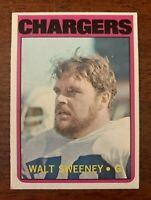 "1972 Topps Football #63 Walt Sweeney (Chargers) ""NM+/MT"""