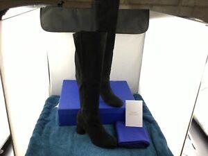 Stuart Weitzman Eloise Boots -  [Black Suede] - Size 7 US - NWB