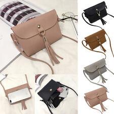 Women's Vintage Leather Handbag Messenger Tassel Shoulder Bag Small Mini Bags