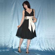 Dorothy Perkins Cutabout Raya Vestido De Te De Algodon Ajustado Y Acampanado Estilo Tallas 8 16 Control Ar Com Ar