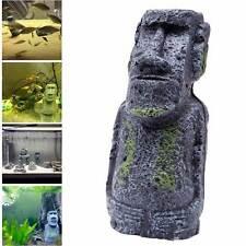 Statua statuetta decorativa decoro ornamento acquario ISOLA PASQUA resina