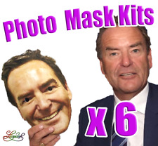 6 x Personalised Photo Face Masks Kits - Birthday Party Fancy Dress Stag Hen
