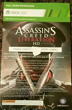 Xbox 360 Assassins Creed Liberation HD Full Game Card Only working