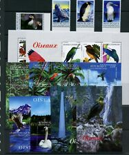S109   Central Africa  2001   birds   set & sheets   MNH