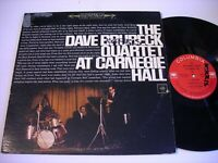 The Dave Brubeck Quartet at Carnegie Hall 1963 Double Stereo LP