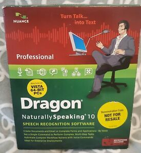Professional Dragon Naturally Speaking 10 Speech Recognition with Microphone new